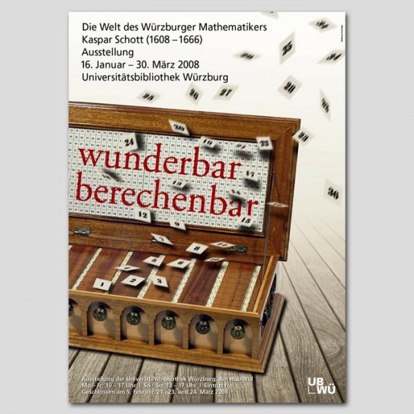 "Plakat ""wunderbar berechenbar"""