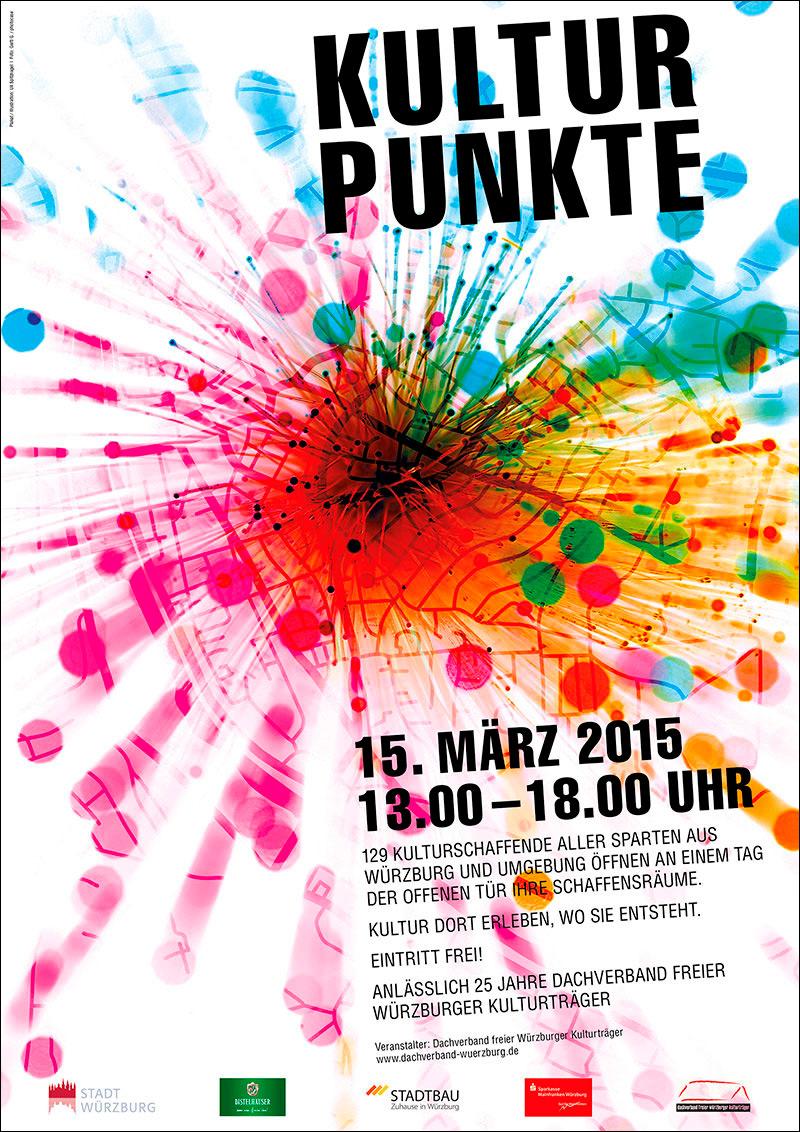 Tag der offenen tür plakat design  Kulturpunkte Würzburg | Spitznagel-Design